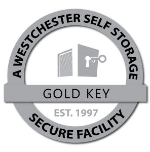 Pleasantville Storage a Westchester Self Storage facility grey logo