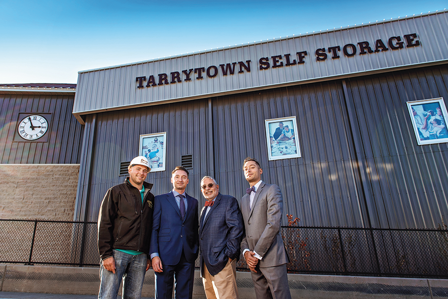 Paul Peter II, Peter Sr and Philip Ferraro photo in front of Tarrytown Self Storage building